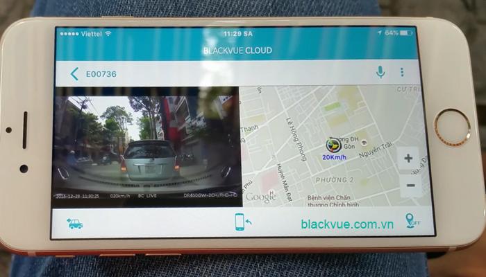 Camera xem truc tiep tu xa - BLACKVUE Over the cloud công nghệ xem videos trực tiếp từ xa