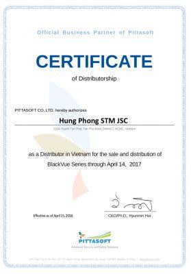Chung nhan blackvue 01 700x400 279x400 - Oto68 nhà phân phối chính thức camera hành trình BlackVue Hàn Quốc tại Việt Nam