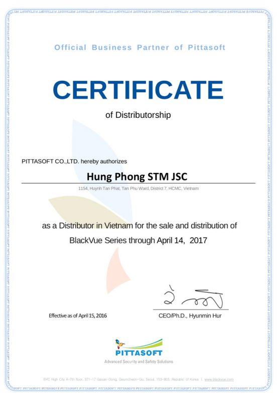 Chung nhan blackvue 01 700x400 558x800 - Oto68 nhà phân phối chính thức camera hành trình BlackVue Hàn Quốc tại Việt Nam