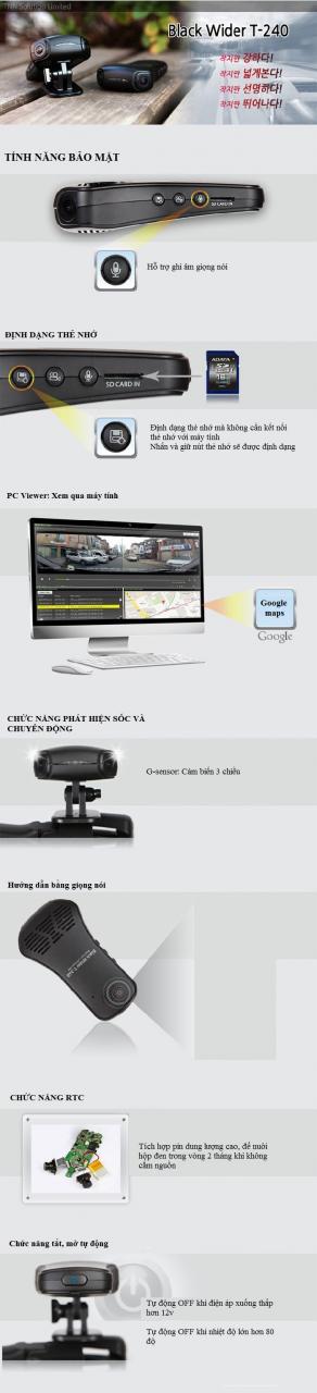 BlackWider T240 04 - Camera hành trình nào có góc quay rộng nhất thế giới hiện nay?