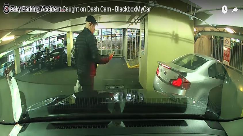 Untitled 4 - Tai nạn bị bắt trên Blackvue Dashcam trong chế độ đậu xe