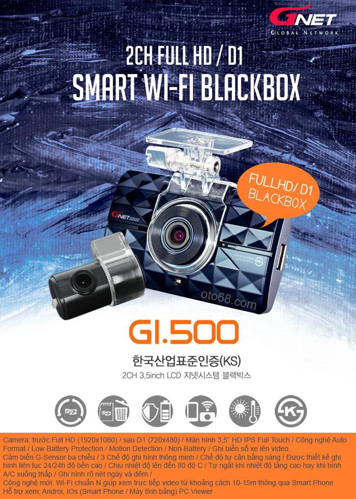 camera hanh trinh gnet gi500 2 - Lắp đặp camera hành trình ô tô tại tphcm