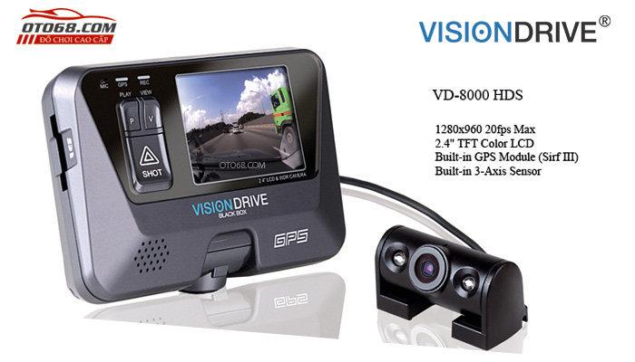 camera visiondrive 13 - Lắp đặp camera hành trình ô tô tại tphcm
