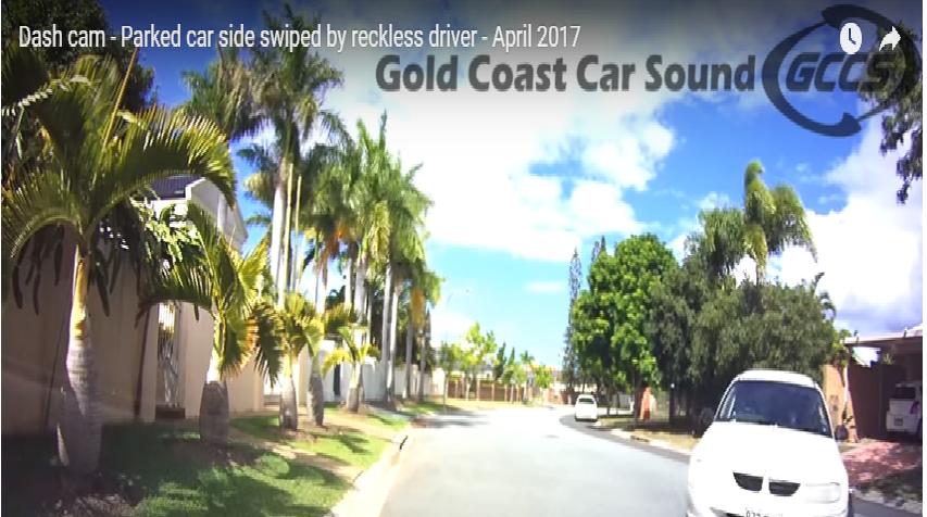 car sideswiped parking mode caught dashcam - Ô tô lấnlề bị bắt bởi chế độ đậu xe trên Dashcam