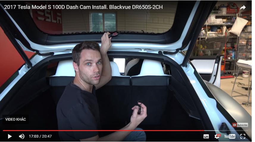 Untitled 2 - Camera hành trình Blackvue DR650S-2CH Cài đặt Năm 2017 Tesla Model S