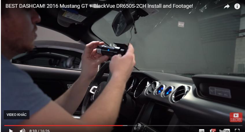 blackvue dr650s 2ch 1 - Camera hành trình DR650S-2CH Cài đặt Trong Mustang GT2016
