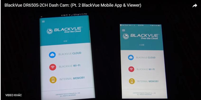 video guide app blackvue - Hướng dẫn về ứng dụng BlackVue & người xem
