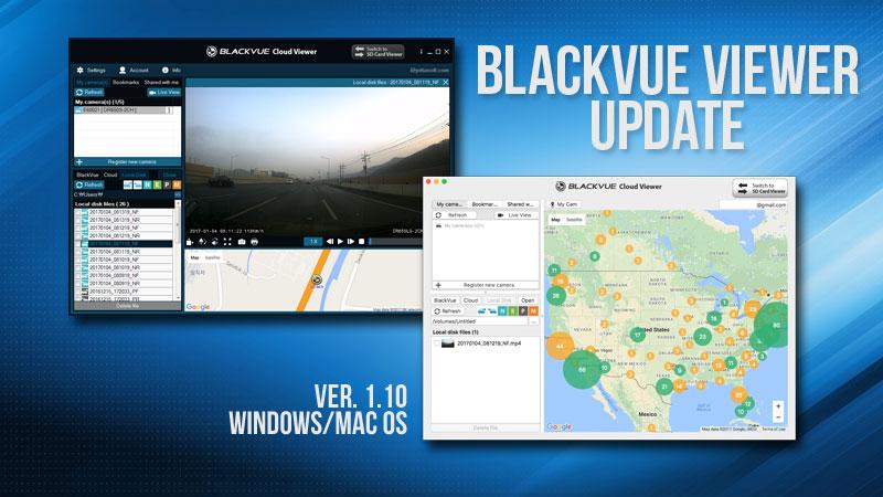 1.10 - Phiên bản phần mềm trình xem Blackvue mới nhất