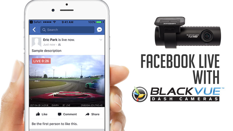 press release blackvue adds facebook live streaming cloud connected dashcams - Làm thế nào mà camera hành trình Blackvue có thể Livestream