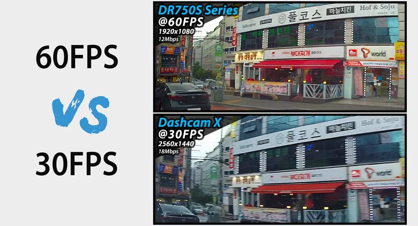 blackvue dash cam dr750s 60fps comparison starvis cloud - Camera hành trình ô tô Blackvue DR750X-1CH