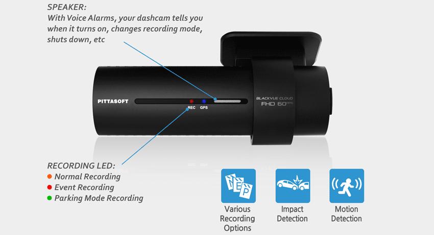 blackvue dash cam dr750s motion impact detection g sensor - Camera hành trình Xe Tải cao cấp Blackvue DR750S-2CH TRUCK