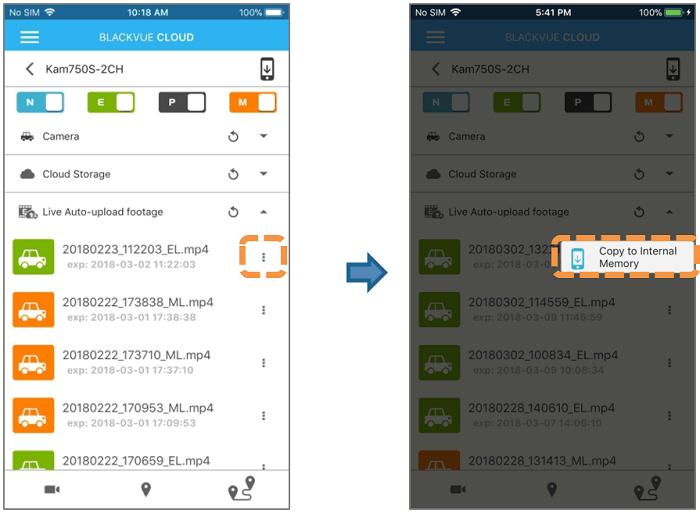 BlackVue Live Auto Upload 5 - [BlackVue Cloud] Hướng dẫn tính năng sử dụng tự động tải video về máy trực tiếp