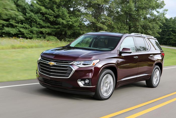 Chevrolet Traverse 2018 - Gợi ý những dòng xe hơi mới, tốt nhất năm 2018 cho mọi gia đình