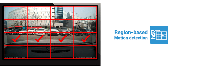 che do region based motion detection 1 - Chế độ đỗ xe Parking Mode của Blackvue