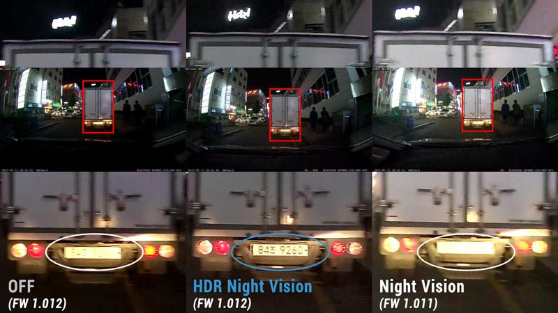 blackvue hdr comparison night closeup license plate 3 - Blackvue HDR Night Vision mới - cải thiện chất lượng video cả ngày lẫn đêm