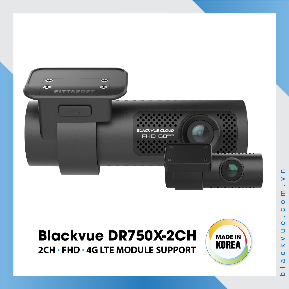 Blackvue DR750X 1000x1000 BlackVue DR750X 2CH 1 - Camera hành trình ô tô cao cấp Blackvue DR750X-2CH